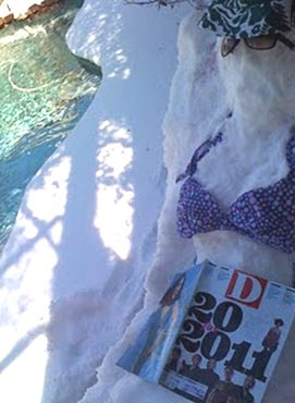 Snow Chick in Bikini - photo by Ashley Thames Brown