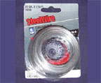 Galvanized steel wire.