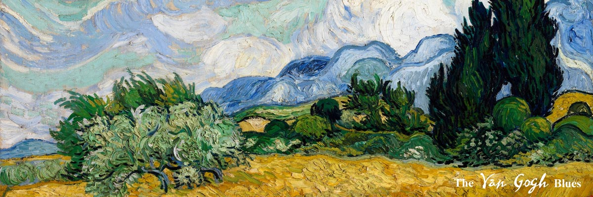 Vincent Van Gogh Painting Wheat Field with Cypresses