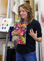 Whitney with Painting