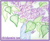 A Creative Doodle: The Essence of Lilacs