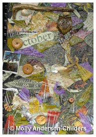 October Afternoon Creative Journal (front) by Molly J. Anderson-Childers