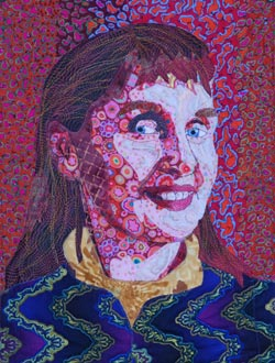 Nadine Sanders - Quilted Self-Portrait