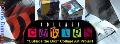 Collage Cubies: Innovative Collage Art by Chris Dunmire
