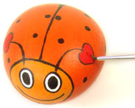 Rock Painting Project: Valentine Love Bugs