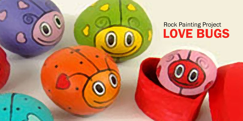 Rock Painting Love Bugs