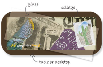 Collage Table Top Example