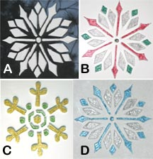Glittering Snowflakes on Glass Examples