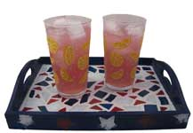 Star Spangled Mosaic Serving Tray