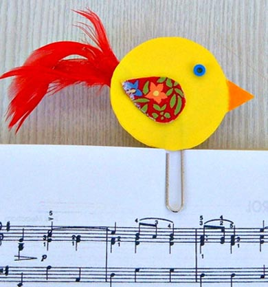Easter Birdie Bookmark