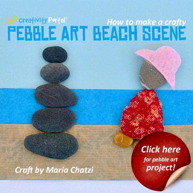 Pebble Art Beach Scene