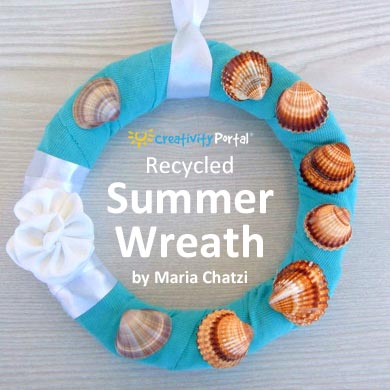 Recycled Summer Wreath