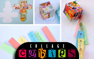 Collage Cubies for Creative Writing