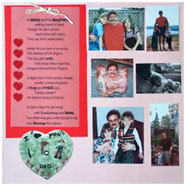 Home made scrapbook layout