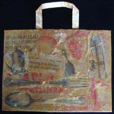 Tatiana Kuzyk's Create Shopping Bag Collage Art in 60 Minutes!