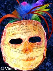 nside of mask by Violette.