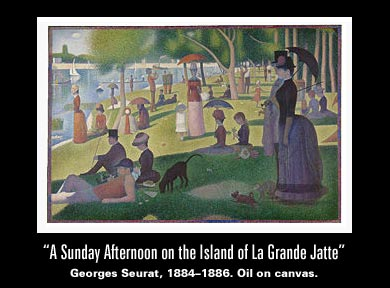 A Sunday Afternoon on the Island of La Grande Jatte - Georges Seurat, 1884-1886 - Oil on canvas.