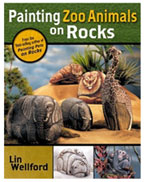 Painting Zoo Animals on Rocks by Lin Wellford