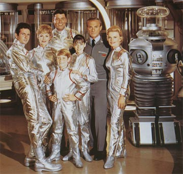 Angela Cartwright (center) with Cast of Lost in Space