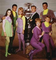 Angela Cartwright with Cast of Lost in Space