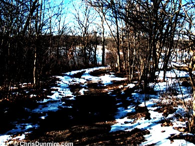 Hiking Trail with Snow in January