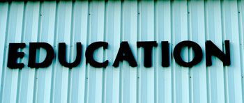 building side with 'Education' word
