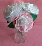 Spring Carnation Style Tissue Paper Flower Project